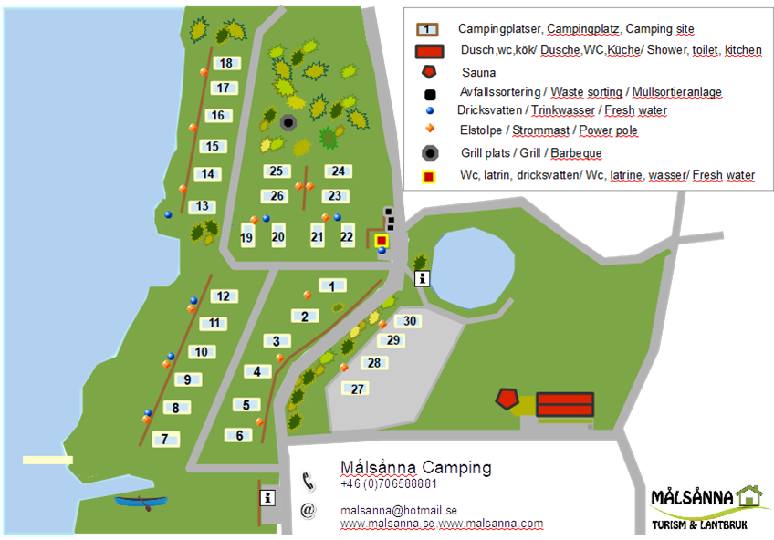 New situation plan about the campsite