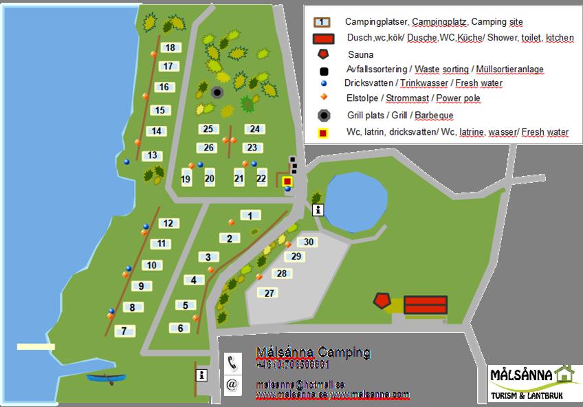 Skizze von dem Campingplatz