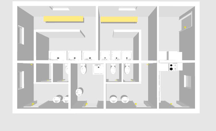 Servicegebäude mit Duschen