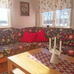 cozy sofa corner in the family cottage